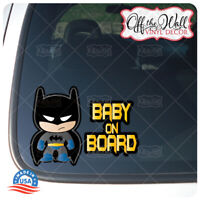 "Little Batman Character ""Baby, Kid, or Kids on Board"" BUYERS CHOICE - Sign #D2"