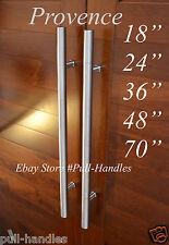 Long Door Handle Ladder Pull Handle Entry Stainless Steel Round satin nickel