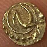 India, Mysore kingdom: Tipu Sultan Gold Fanam, 1782-1799, Patan Mint, 0.38 gms