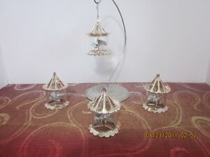 Dept 56 Pinwheel Spinner Ornaments Set of 4