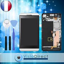 Ecran vitre complet sur chassis pour Blackberry Z10 4G 001/111 blanc + outils