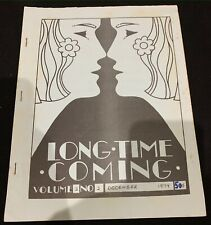 Long Time Coming vintage Canadian lesbian queer women's zine publication, 1974
