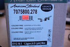 American Standard 7075800.278 Colony Pro Widespread With Metal Drain Bronze