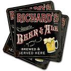 Personalizable Premium Beer & Ale Coasters - Set of 4, 8 or 12