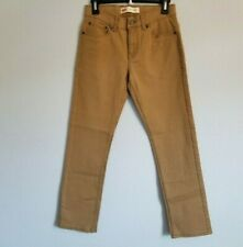 Levis Boys Youth Kids 511 Slim Fit 5 Pocket Brown Pants New Without tags Sz12