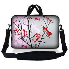 """13.3"""" 13"""" Laptop Sleeve Bag w Shoulder Strap Chromebook Macbook Pink Gray SP56"""
