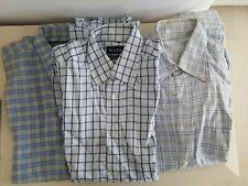 Lot 3 chemise homme carreaux bleu classique 37-38 Buch, Massimo Dutt...