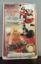 "Vtg Fibre Craft Christmas Ornament Kit makes (2) 5"" Cindy Ice Skaters #2515"