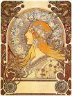 "Zodiac by Alphonse Mucha, Giclee Canvas Print, 12""x16"""