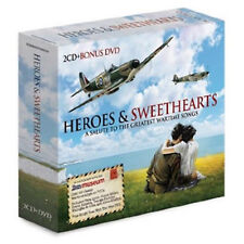 Various Artists : Heroes & Sweethearts CD Album with DVD 3 discs (2010)