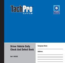 Tachpro 50 página controladores diario defecto de vehículos y Check libro por duplicado x 14