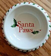 Lenox Holiday Pet Bowl Rare Santa Paws Brand New Christmas
