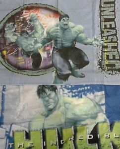 Vintage Retro Incredible Hulk Unleashed Bed 2 Pillow Cases
