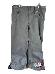 Oakley Snowboard Ski Pants Mens 2XL Gray Vented Waterproof Insulated Adjustable