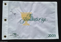 ADAM SCOTT SIGNED 2009 PRESIDENTS CUP GOLF PIN FLAG AUGUSTA MASTERS PROOF COA J2