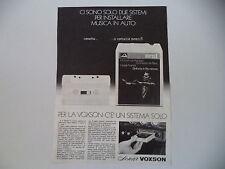 advertising Pubblicità 1972 VOXSON STEREO 8
