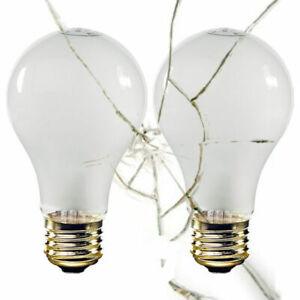 Halco 6143 A19 100W Shatterproof Incandescent Lamp E26 Base A19RS100/CS 2-Pack