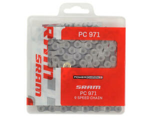 SRAM PC-971 Chain - 9 Speed - 114 Links - Silver/Gray - New with PowerLink!