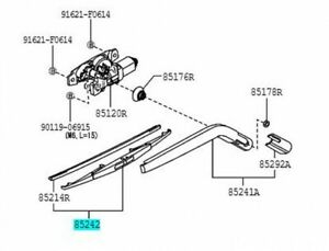 TOYOTA 85242-B5010 Rear Wiper Blade Genuine Parts PIXIS VAN S321 331 PS1 PS2