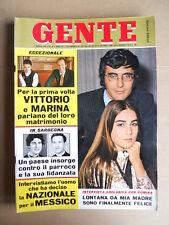 GENTE n°19 1970 Albano Romina Power Vittorio Mussolini Mina Monica Vitti [D35]