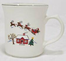 "Pfaltzgraff Snow Village Dinnerware Coffee Santa Christmas 4"" Coffee Mug Tea Cup"