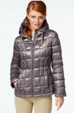 Calvin Klein Lightweight Jacket Puffer Packable Down Hood Shine Granite PXS