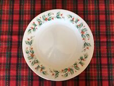 Noel by China Pearl Christmas Holiday Dinner Plate Green Holly & Red Berries