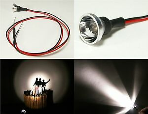 Straßenlaterne LED Einzelscheinwerfer für Straßenbahn Sandtischmodell