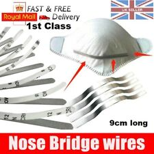Aluminium NOSE BRIDGE CLIP Metal Strip Wire Self Adhesive Strips For Face Masks