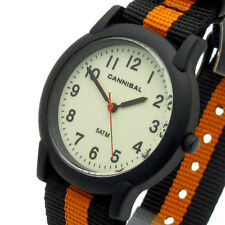 Cannibal Teens Mens Watch Canvas Strap Analog Water Resist CJ257-18