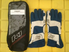 K1 Race Gear 40043218 Blue Medium Pro 1 Racing Gloves Nomex Fire Retardant