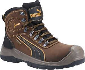 Puma Safety Mens Sierra Nevada Mid Lace up Boot Brown