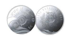 ESTONIA - 8 € Euro SILVER COLLECTOR COIN 2021 - Hanseatic town Parnu