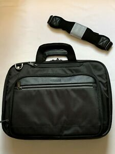 NEW - Kenneth Cole Laptop Bag Multi Compartment Top-Zip EZ Scan Black  Computer