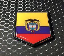 "Colombia Flag Domed CHROME Emblem Proud Flag Car 3D Sticker 2""x 2.25"""