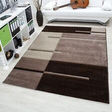 Tapis marron rectangulaire modernes pour le séjour
