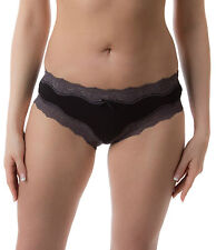Pack of 2 : Passionelle® Womens Sexy Shorty Style Briefs - Luxury Blended Fabric