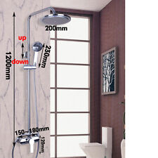 Bathroom Head Shower Unit Mixer Handheld Chrome Finish Thermostatic Complete