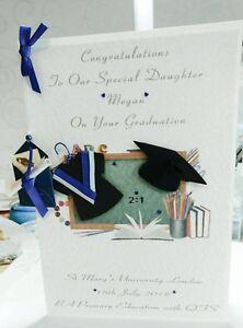 Large Handmade Personalised Graduation Card PRIMARY EDUCATION/TEACHING