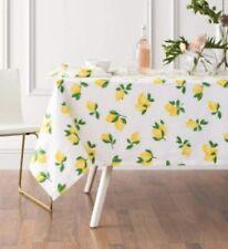 """Kate Spade Make Lemonade Lemons Tablecloth 60"""" X 120"""" BNWT"""