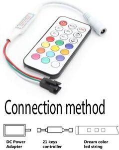 LED RGB RF Remote Controller DC 5-12V 21 Key for WS2811 WS2812B LED Strip Light