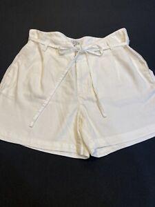J.Crew Shorts Women Sz.4-Lyocell-Beige-Zip-Tie Belt