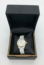 Women's Akribos XXIV Watch | AK485 | Ceramic Case | Diamond Marker | Analog (Cab