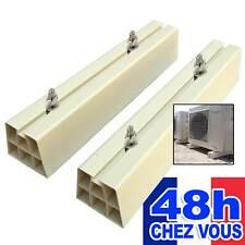 Paire de supports de sol pour climatiseur pompe a chaleur pvc blanc 450 mm