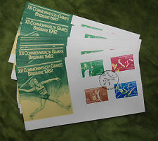 #T58. 1982 Archery, Boxing, Weightlifting,Vault Fdc Set