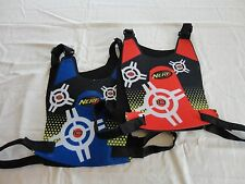 2 Nerf Dart Tag Double sided VESTS Blue & Red Target vests accessories