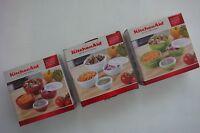 New KitchenAid Set of 4 Prep Bowls with Lids, 1, 2, 3 & 4 Cup * Aqua Sky * Green