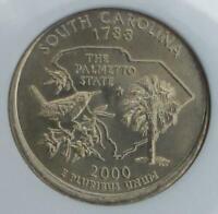 2000 NGC MS 65 Partial Collar South Carolina Mint Error State Quarter #023