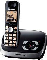 Panasonic Schnurlostelefon mit AB KX-TG6521 Schwarz  Gebraucht