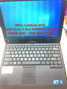 "DELL Latitude XT2 (Touch Screen)_2 Duo U9600@1.6GHz_128GB SSD_5GB RAM_12"" Screen"
